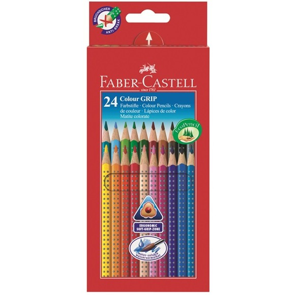 Faber-Castell - 24 Colour Grip 2001 fargestifter (112424)