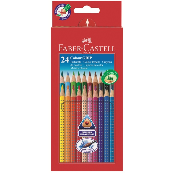 Faber-Castell - Buntstift Colour GRIP 24er Kartonetui (112424)