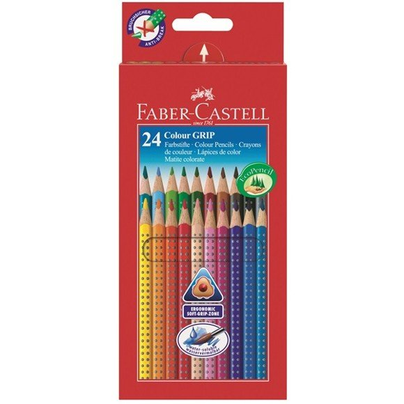 Faber-Castell - Colour Grip 2001 Eco farveblyanter, 24 stk (112424)