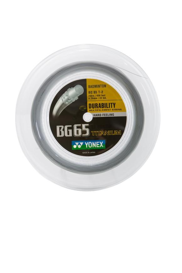 Yonex - BG-65 Titanium Badmintonstring 0,7 mm natur