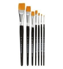 Gold Line Brushes - 7 mixed (10247)