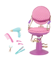 Our Generation - Sitting Pretty Salon Chair – Purple with heart (BD35107Z)