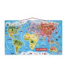 Janod - Magnetic World Map Puzzle, 92 pcs (5504)