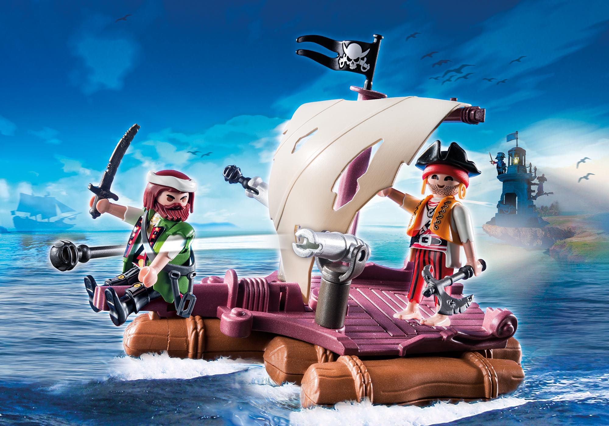 køb playmobil  pirat tømmerflåde 6682