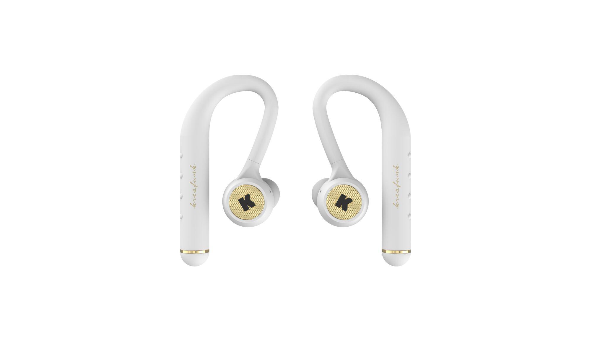 Billede af KreaFunk - bGEM Bluetooth Høretelefoner - Hvid/Guld