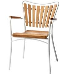 Cinas - Hard & Ellen Garden Chair - Aluminium/Teak (3515009)