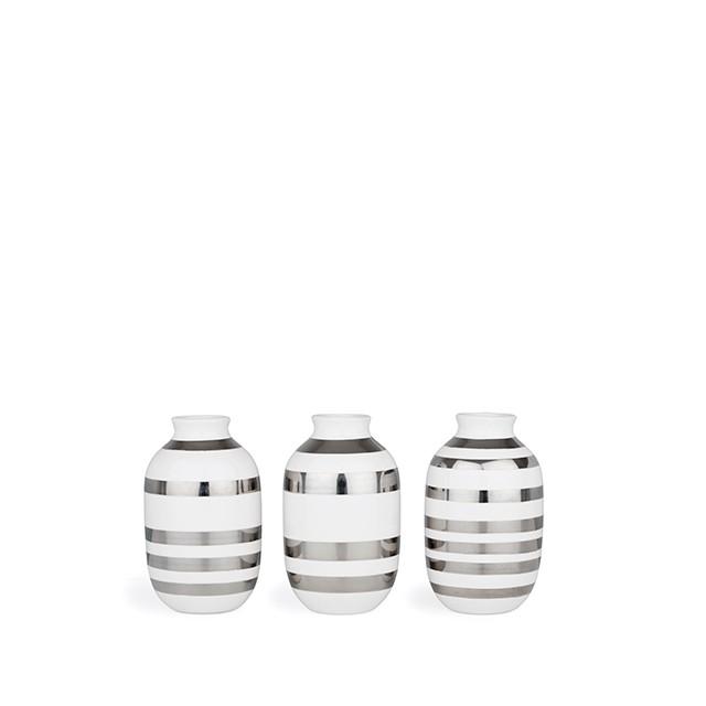 Kähler - Omaggio Miniature Vases - Silver (692410)