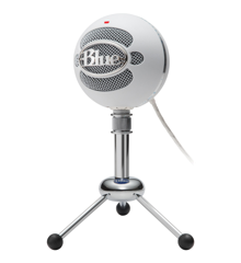 Blue - Microphone Snowball Textured White