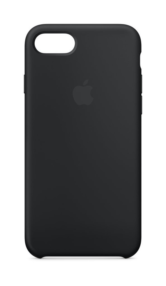 Apple Silicone Back Cover Case for iPhone 8 Black