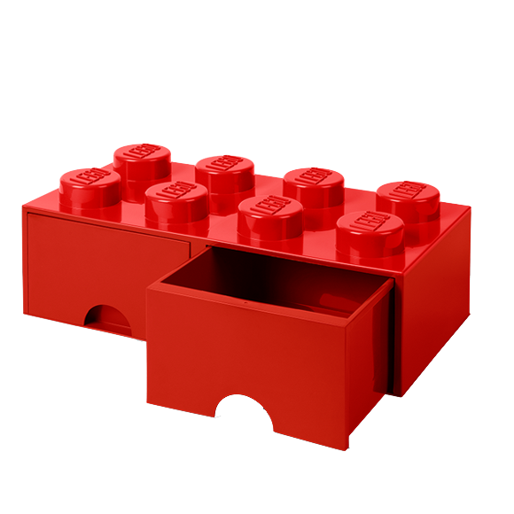 Room Copenhagen - LEGO Brick Drawers 8 - Red (40061730)