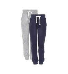 MINYMO - Sweat pants - Dark Navy + Grey 2-pack