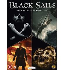 Black Sails: Sæson 1-4 - DVD