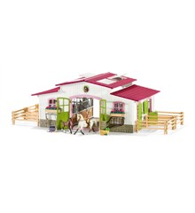 Schleich - Riding centre with rider and horses (42344)