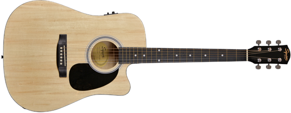Squier By Fender - SA-105CE - Acoustic/Electric Guitar (Natural)