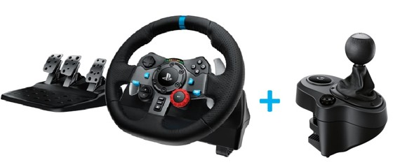 Logitech G29 Driving Force  + Driving Force Shifter Bundle For PS3/PS4