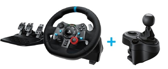 Logitech G29 Driving Force ratti  + Driving Force Shifter Bundle PS3/PS4