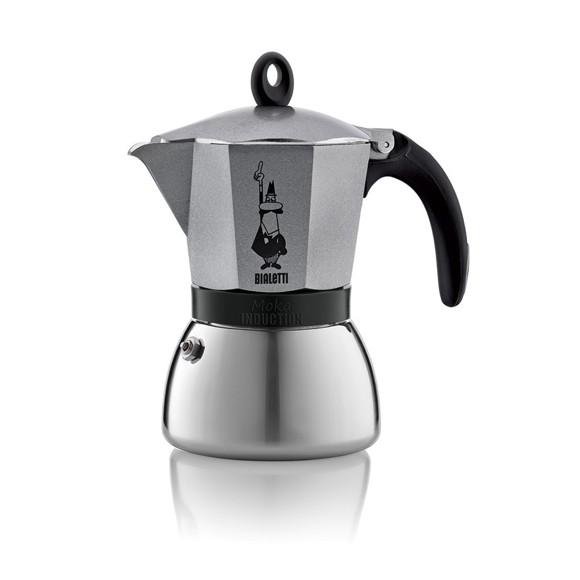 Bialetti - Moka Induction Antracit 6 Cups (4823)