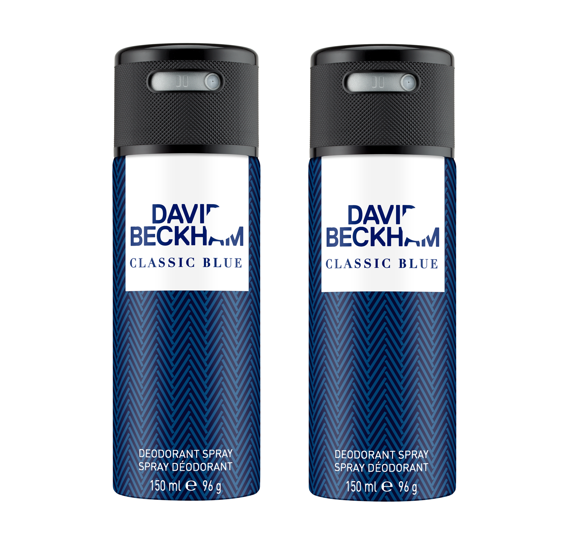 David Beckham - 2x Classic Blue Deodorant Spray 150 ml