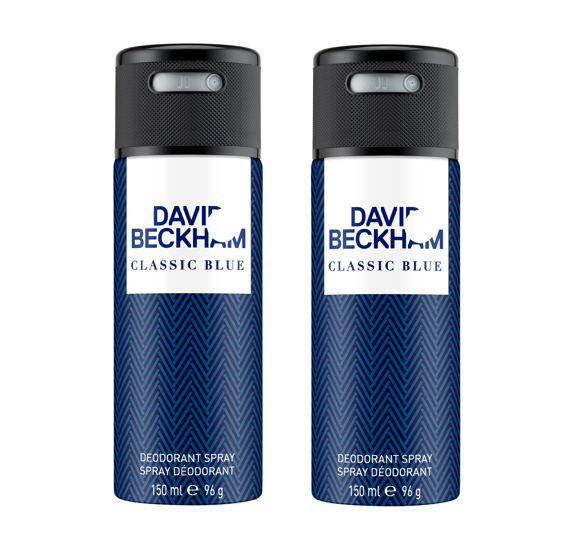 David Beckham - 2x Classic Blue Deodorant Spray 150 ml