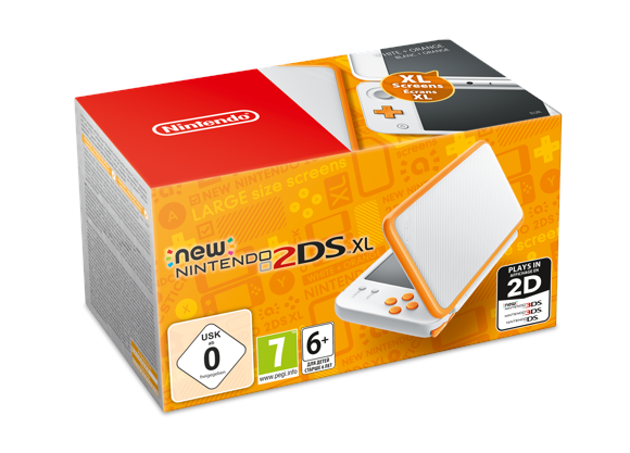 New Nintendo 2DS XL (White/Orange)