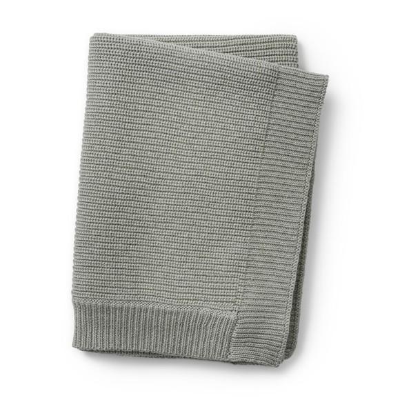 Elodie Details - Wool Knitted Blanket - Mineral Green