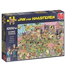 Jan van Haasteren - Puslespil - 1000 brikker -  Pop Festival