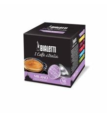 Bialetti - Espresso-Kapseln - Milano milder Geschmack - 8 Packungen mit je 16 Stück - Lila