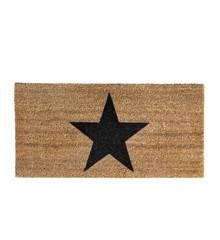 Bloomingville - Stjerne Dørmåtte 80 x 40 cm - Brun