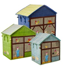 Rice - Large Set of 3 Toy Baskets - Farm Theme
