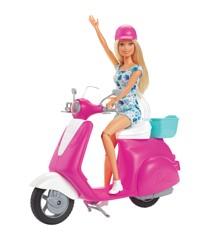 Barbie - Dukke og Scooter