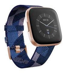 Fitbit - Versa 2 SE - Navy & Pink Woven
