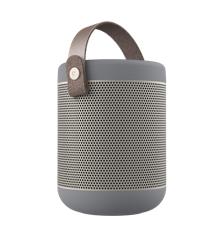 KreaFunk - aMAJOR Bluetooth Speaker - Cool Grey/Pale Gold Grill (KFWT74)