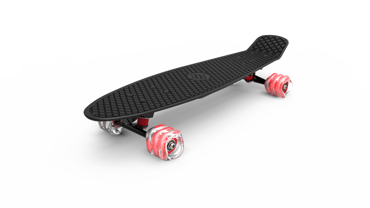 Shark Wheel - Skateboard, Schwarz