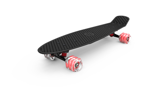 Shark Wheel - Skateboard, Svart