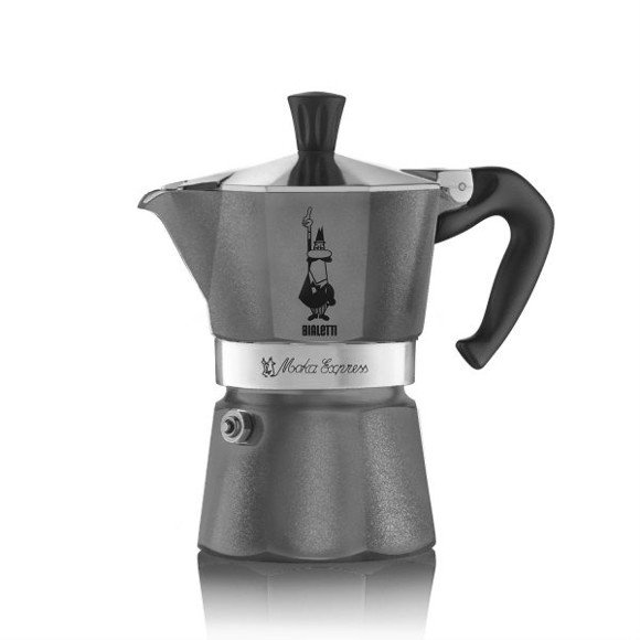 Bialetti - Moka Express Diamond 3 Cups - Antracit Grey (5312)