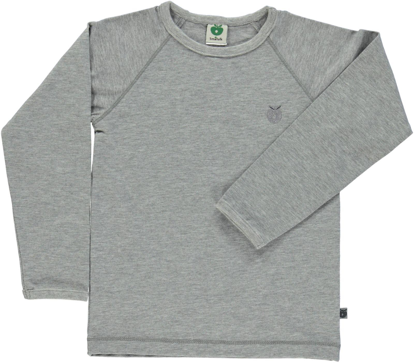 Småfolk - Organic Basic Longsleved T-Shirt - Lt. Grey Mix