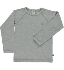 Småfolk - Organic Basic Longsleved T-Shirt - Lt. Grey Mix