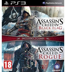 Assassin's Creed IV (4) Black Flag + Assassin's Creed Rogue (Nordic)