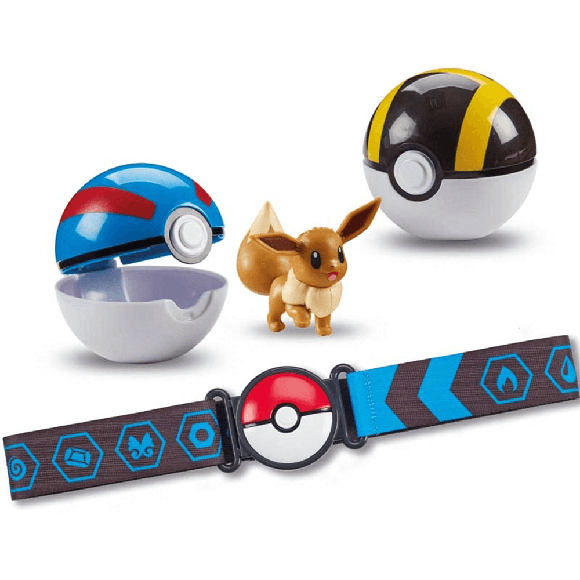 Pokemon - Clip 'N Go Poke Ball Belt - Eevee