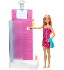 Barbie - Brusekabine med fungerende bruser (FXG51)