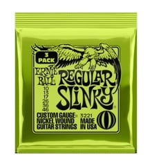 Ernie Ball - Regular Slinky - String Set For Electric Guitar (010-046) (3 PACK)