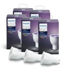 Philips Hue - 5X Single Bulb GU10  Color bundle tilbud