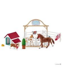 Schleich - Horse Club - Hannahs gästhästar med tiken Ruby (42458)