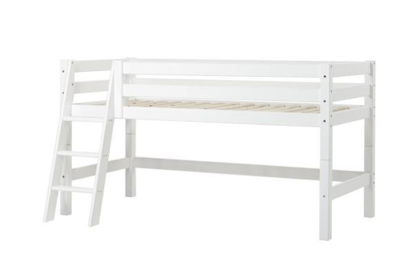 Hoppekids - PREMIUM Half High Bed 90x200 with Slant Ladder