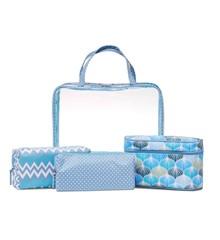 Studio - Transparent Cosmetic Bag Set - Blue