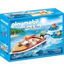 Playmobil - Family Fun - Speedbåd med baderinge (70091)
