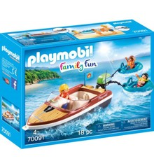 Playmobil - Family Fun - Sport boat with fun tires (70091)