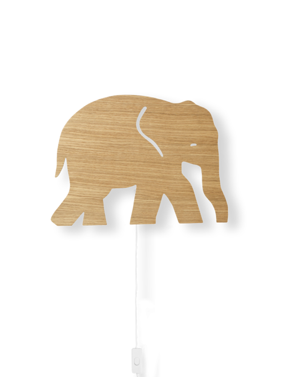​Ferm Living - Elephant Lamp - Oiled Oak (100050208)