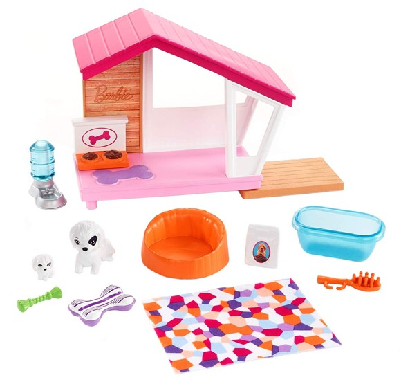 Barbie - Indoor Furniture - Dog House Playset (FXG34)