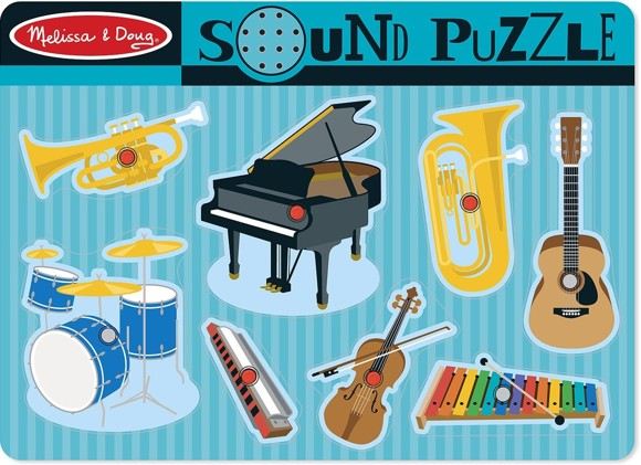 Melissa & Doug - Sound Puzzle - Musical Instruments (10732)